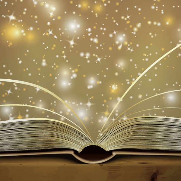 book image with stars